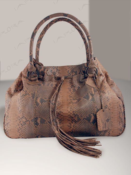 Snakeskins Bags Python Snake Brown Genuine! Implora - US Free Shipping 4e9d568170