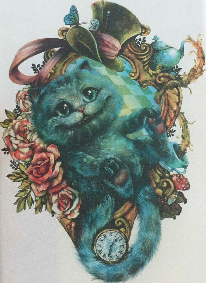 Чеширский кот в шляпе картинки из алисы в стране чудес