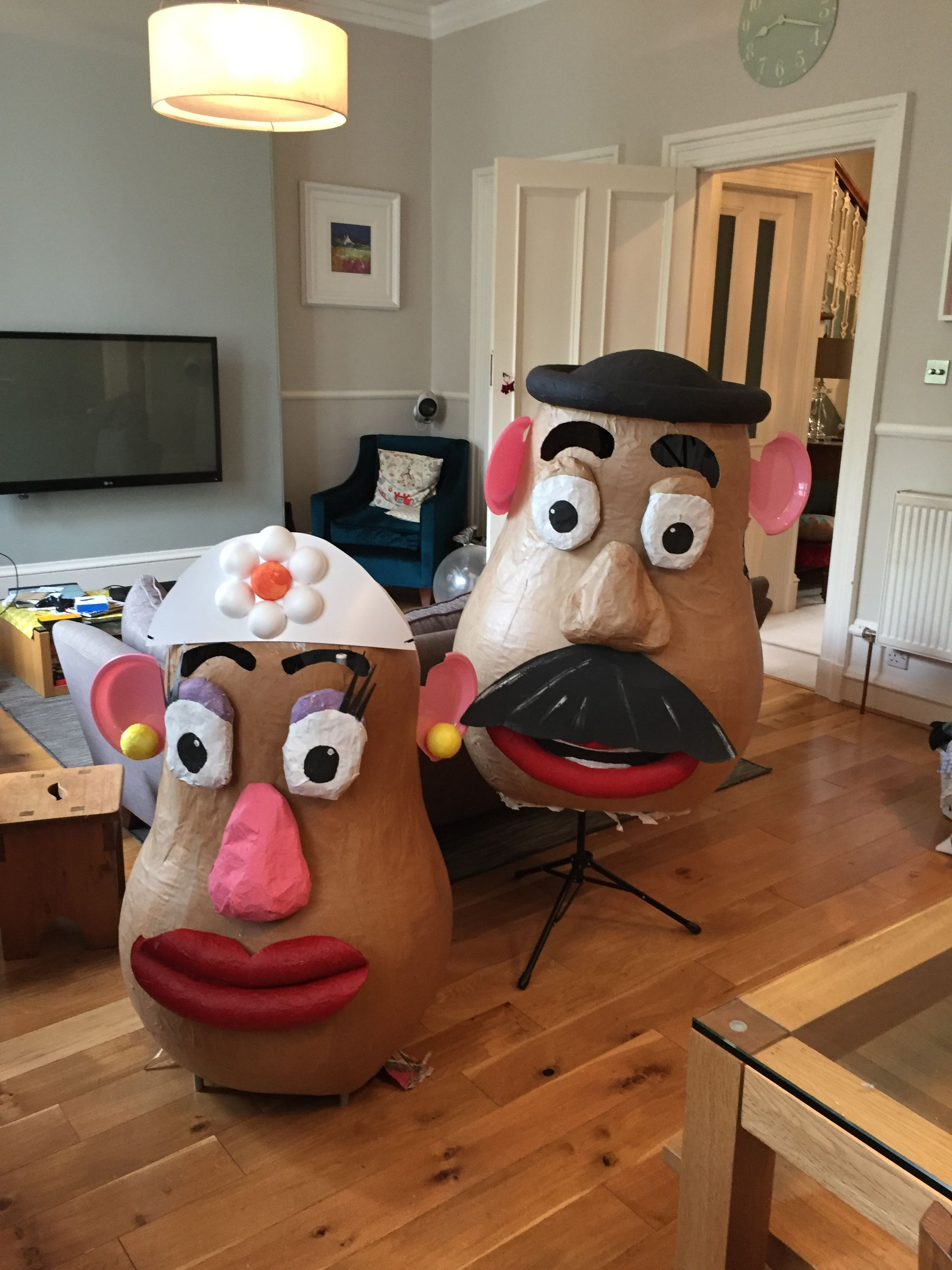 mrs potato head costume #toystory made from paper mache around a