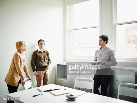 Stock Photo : Senior businesswoman leading project discussion