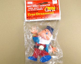 Grumpy Snow White and the Seven Dwarfs Christmas Ornament Vintage ...