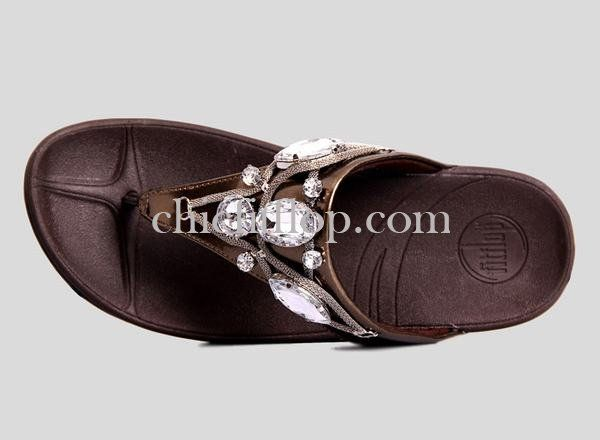 44a38f9f4fc0bd Fitflop Eight Diamonds Bronze Womens Sandals