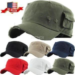 c9e79011a97bd  9.99 Military Hat Army Cadet Patrol Castro Cap Men Women Golf Driving  Summer Castro