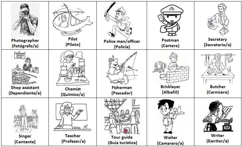 Profesiones En Ingles Para Ninos Buscar Con Google Imagenes Ingles Ingles Ingles Para Ninos