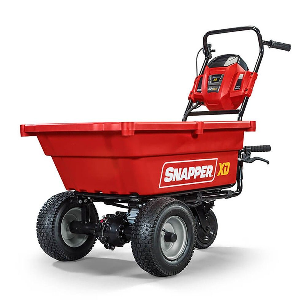Snapper Sxdc82 Xd 82v Max 3 7 Cu Ft Cordless Self Propelled Utility Yard Cart In 2020 Electric Wheelbarrow Wheelbarrow Powered Wheelbarrow