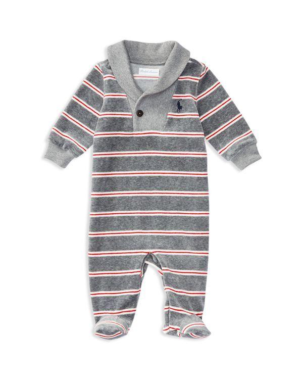 8b3643e73434 Ralph Lauren Childrenswear Infant Boys  Striped Velour Coverall ...