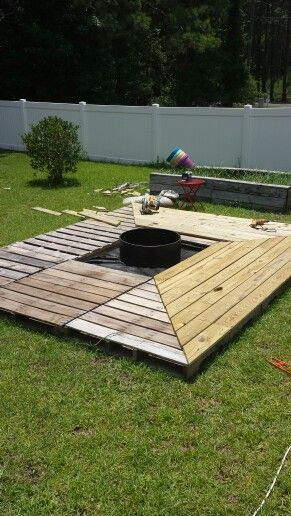 Pallet Furniture Outdoor Patio Fire Pits