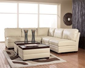 Aero Ivory 5pc Modular Sectional With Images White Leather Sofas Modern Sofa Designs Best Leather Sofa