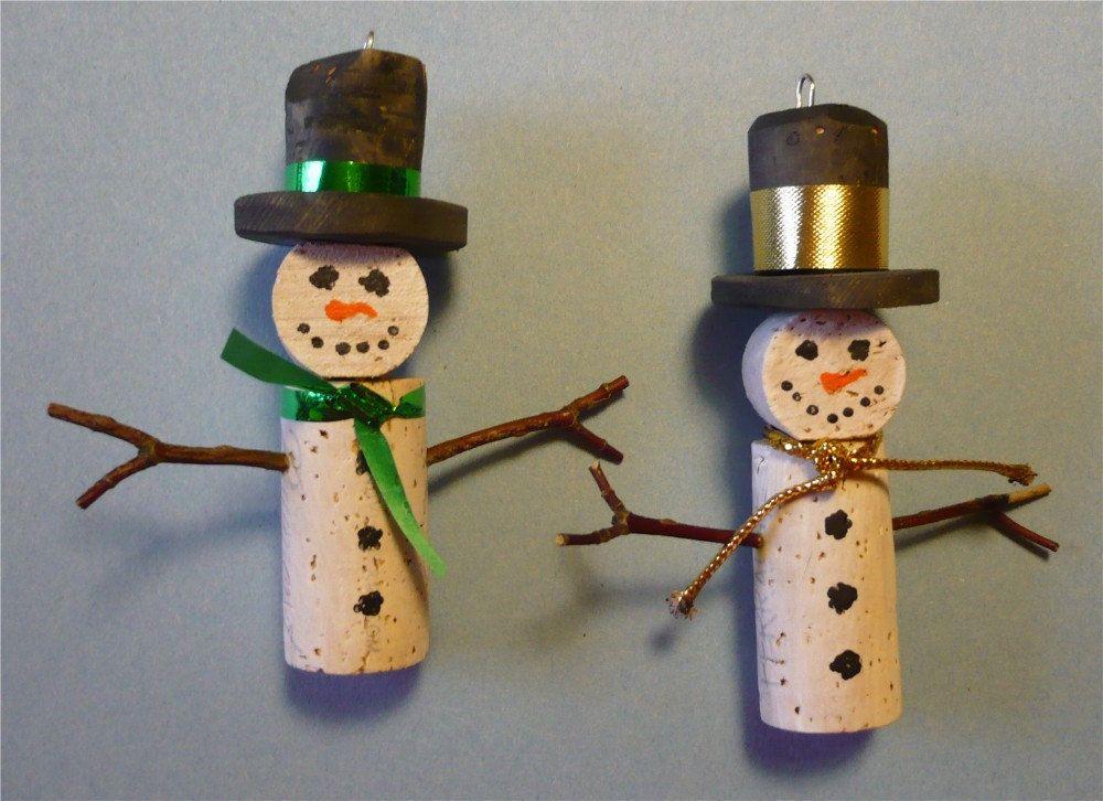Wine Bottle Cork Christmas Tree Ornaments-Set of 2 via ...