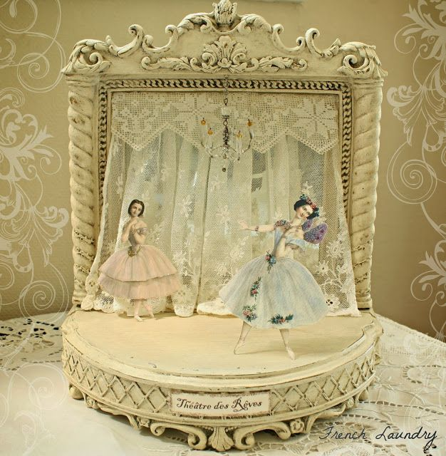 Petite French Theater  Paper Dolls; might try this idea with paper dolls bought at Paris Opera House