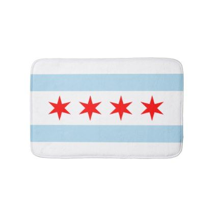 flag of chicago illinois bathroom mat bathroom accessories home living