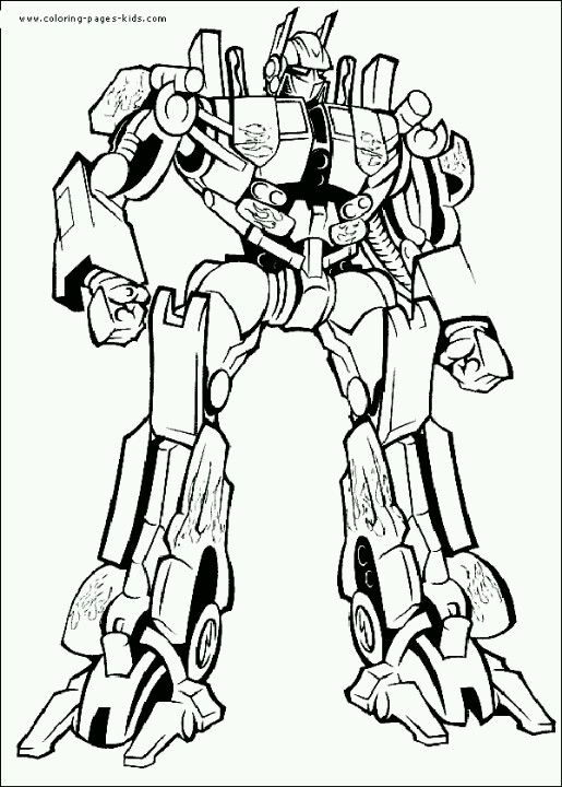 Optimus Prime Coloring Page Transformers Coloring Pages Cartoon