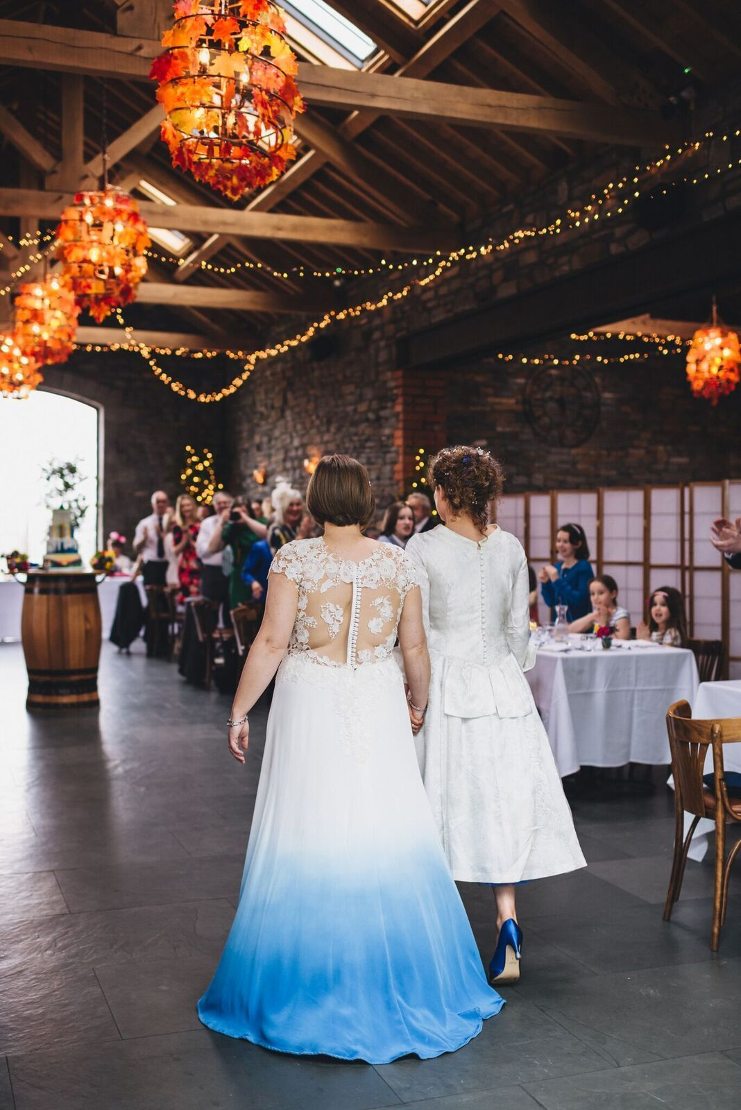 Dip dye wedding dress by lucy cant dance photography by