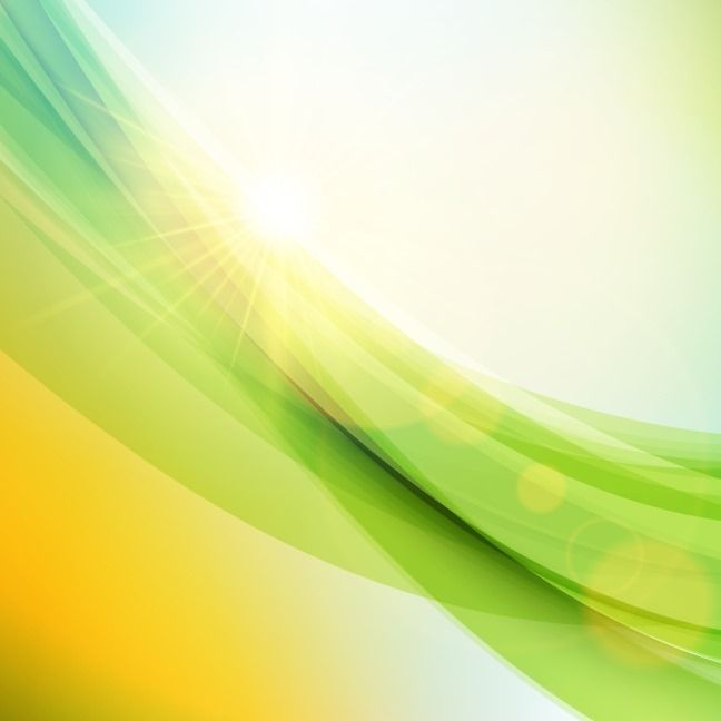 Abstract Sunlight Green Wave Background Free Vector Graphics