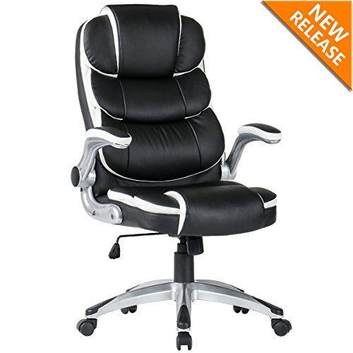 Yamasoro High Back Executive Office Chair Leather Adjustable