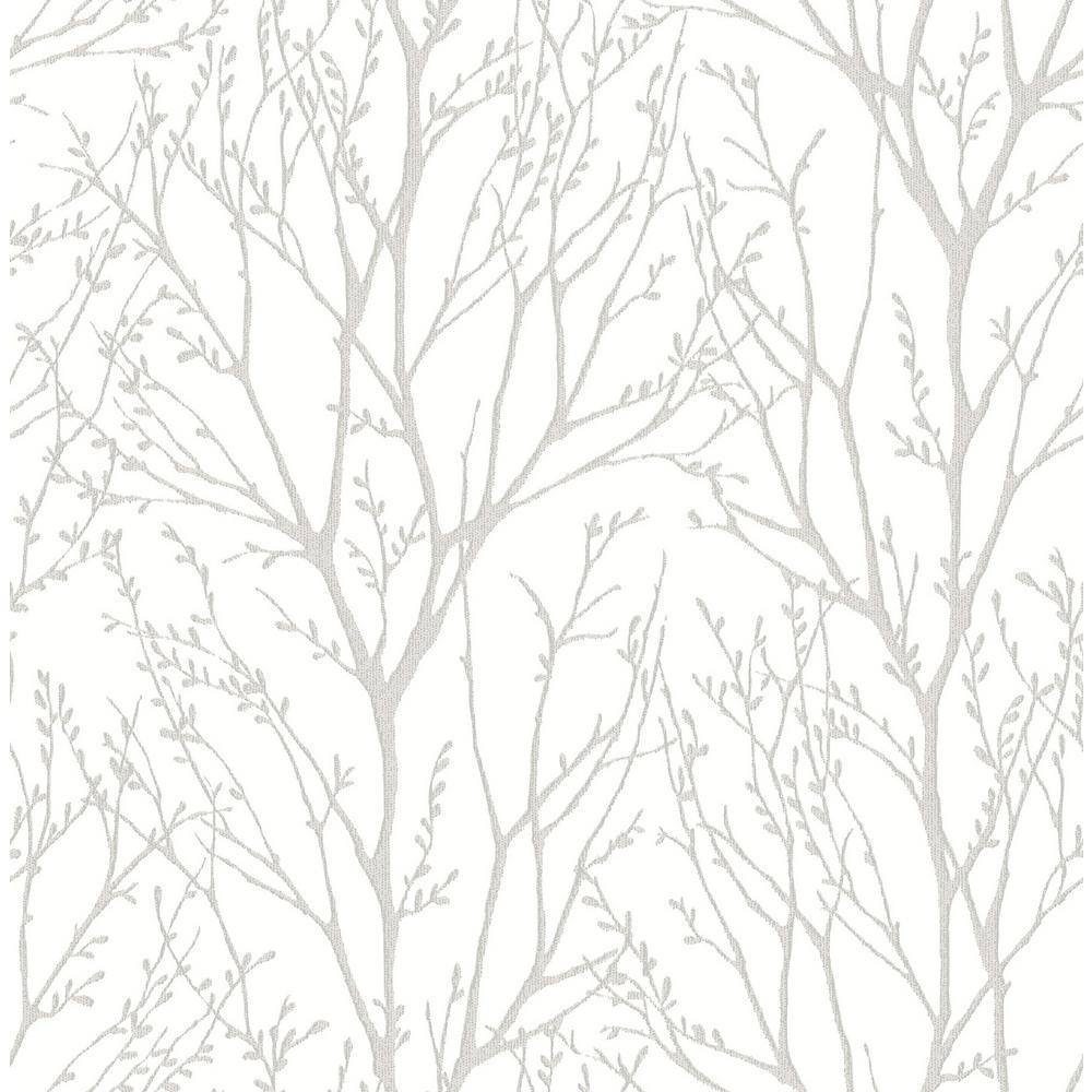 Nuwallpaper Treetops Vinyl Strippable Roll Covers 30 75 Sq Ft Nu2394hd2 The Home Depot Gold Tree Wallpaper Silver Tree Wallpaper Tree Wallpaper