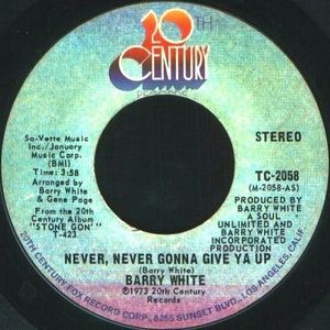 Barry White Never Never Gonna Give Ya Up Vinyl At Discogs