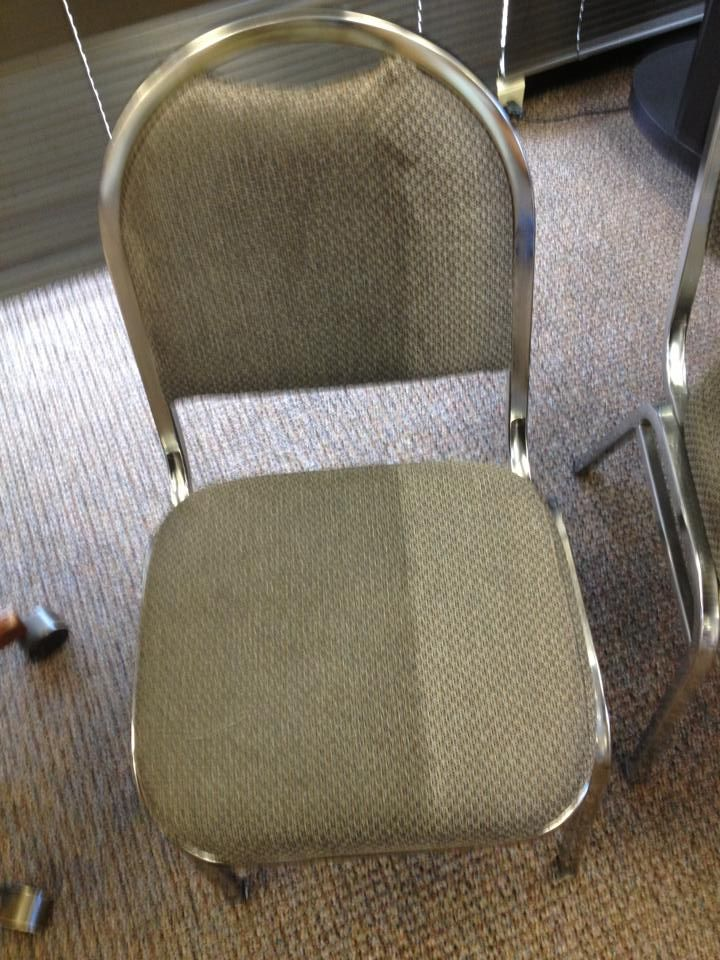 Before And After Picture Of The Difference Upholstery Cleaning Can