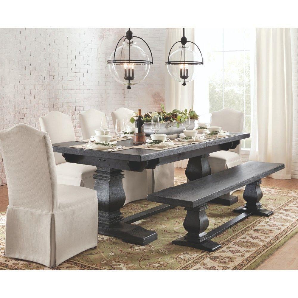 Home Decorators Collection Aldridge Washed Black Extendable Dining