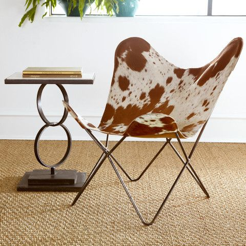 Merveilleux Cowhide Butterfly Chair