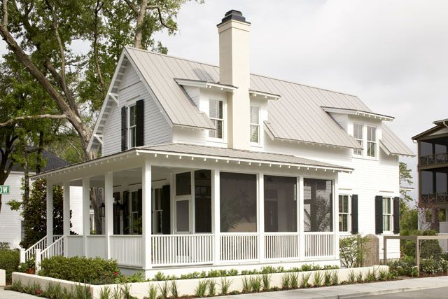 Metal Roof Wrap Around Porch Screen Room Country Charm Small Cottage House Plans Small Cottage Homes Southern House Plans