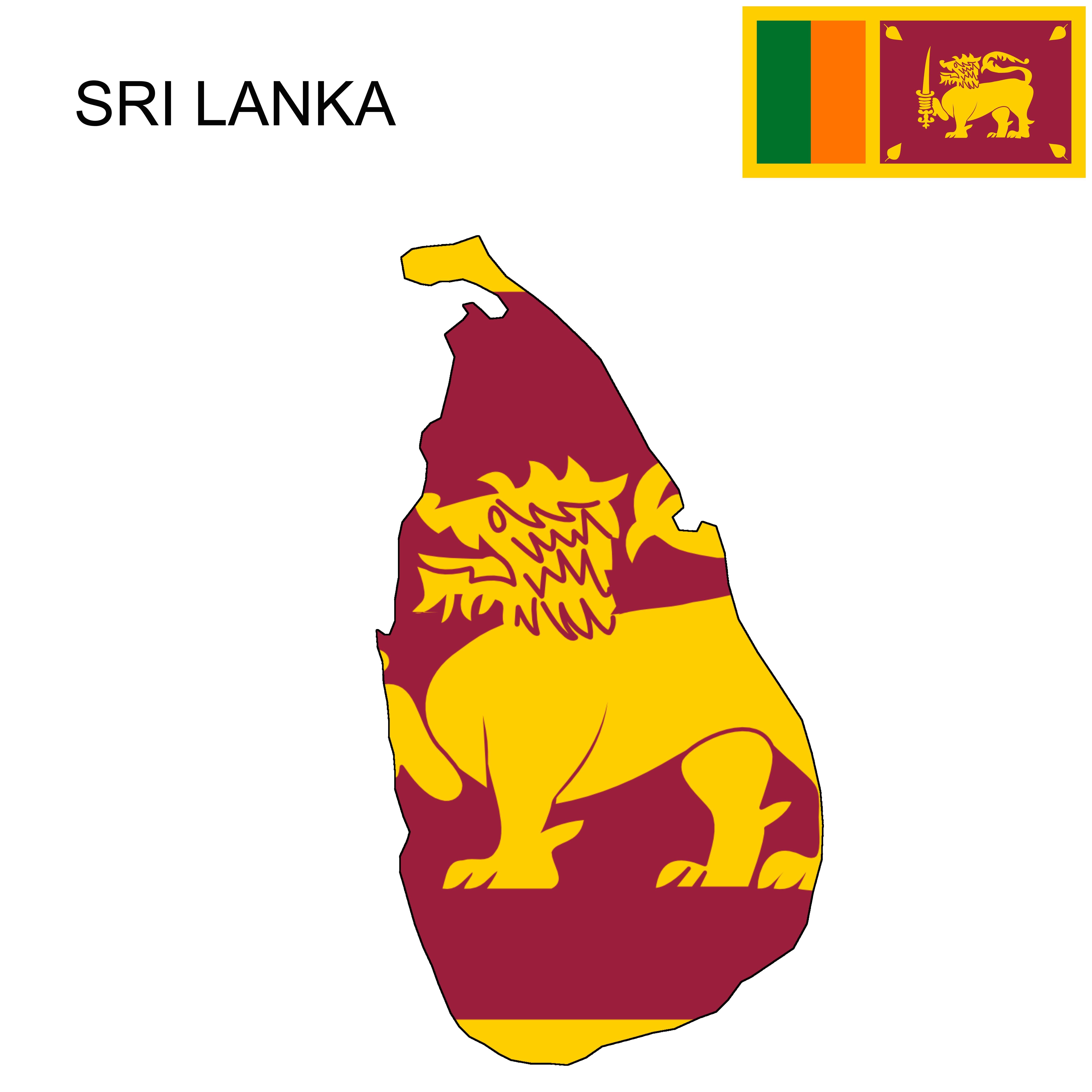 Sri Lanka Sri Lanka Flag Map Sri Lanka Flag Sri Lanka Flag