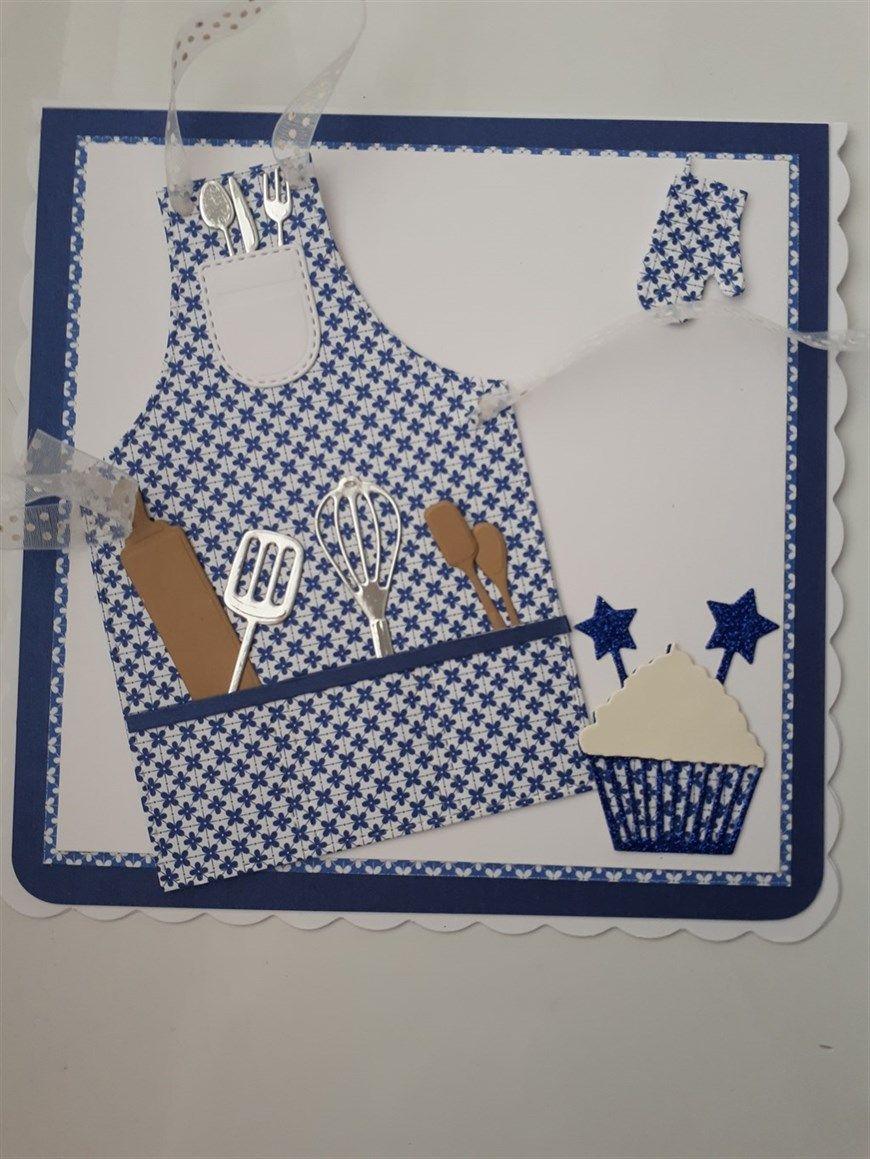 Открытка фартук для мамы на день рождения