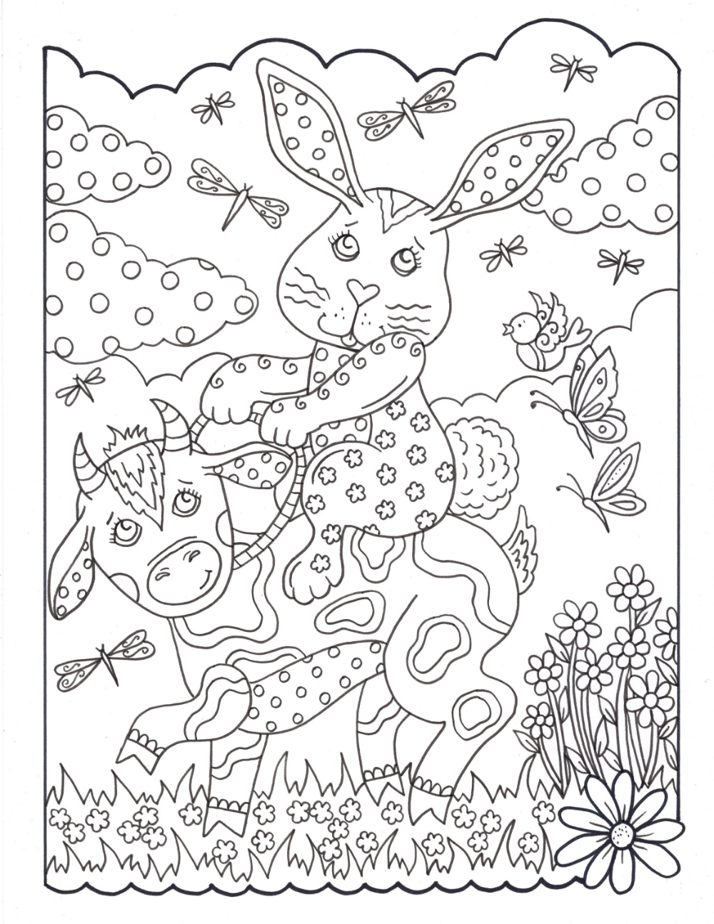 Bunny Love 10 Digital Coloring Pages Downloads Digi Stamps Etsy In 2020 Coloring Pages Digi Stamps Coloring Books