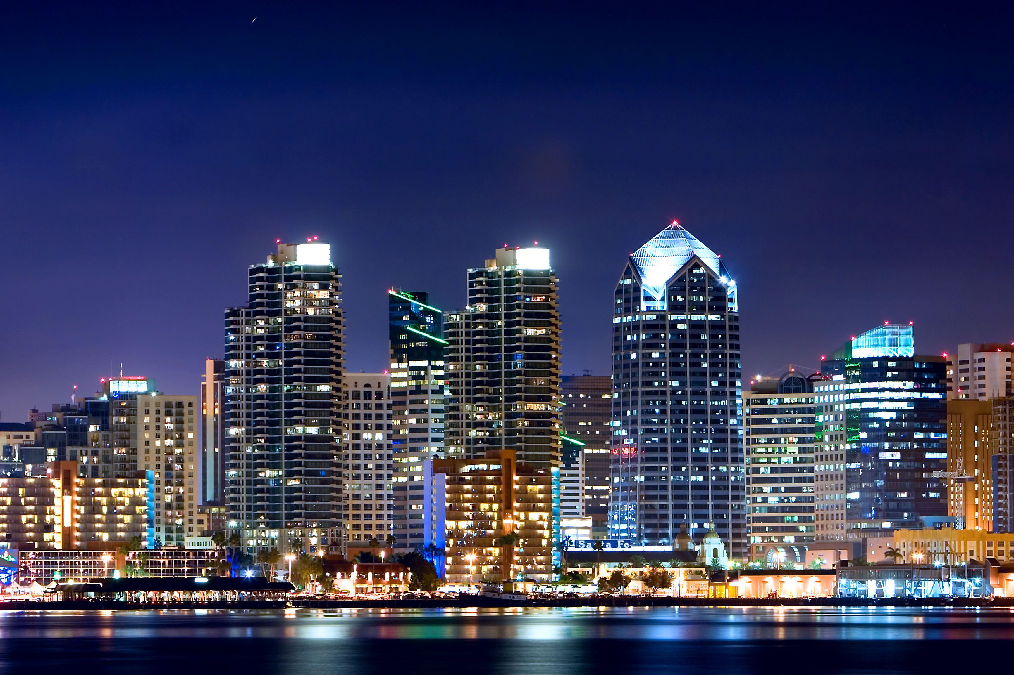 San Diego City Night | Ideas for the House | Pinterest ...