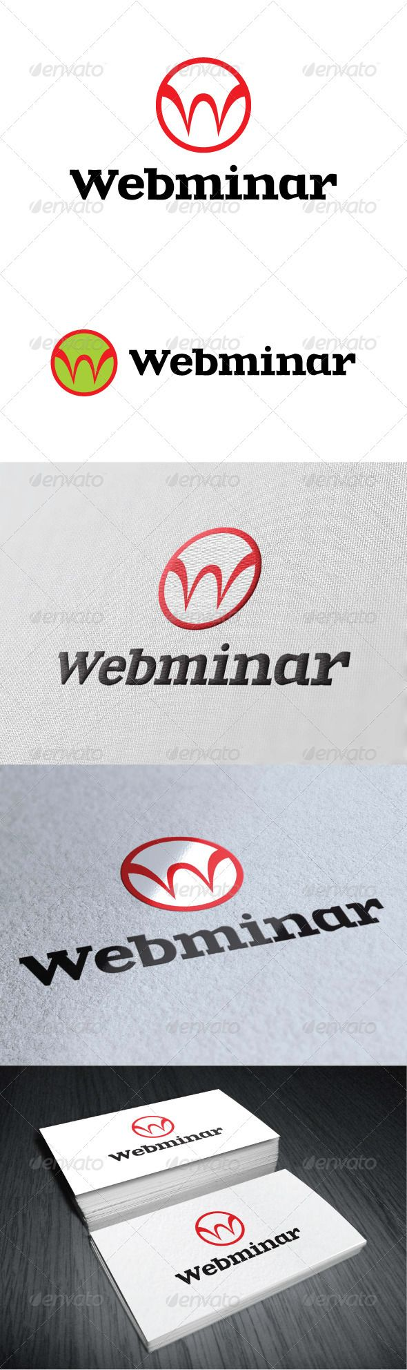 Webminar Logo Template GraphicRiver Re sizable Vector EPS