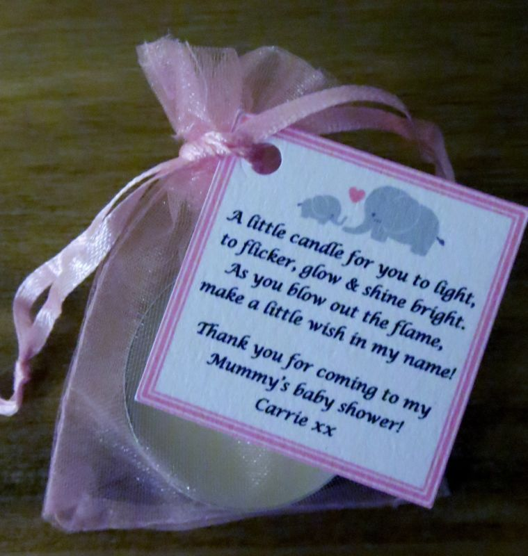 NEW BABY SHOWER FAVOURS VANILLA CANDLE -Can Be
