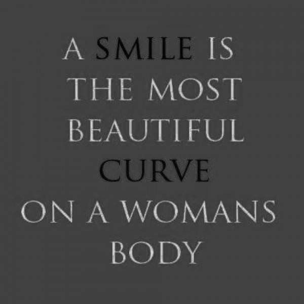 Photo of A smile is the most beautiful curve on a woman's body. From the creator of Sex a…