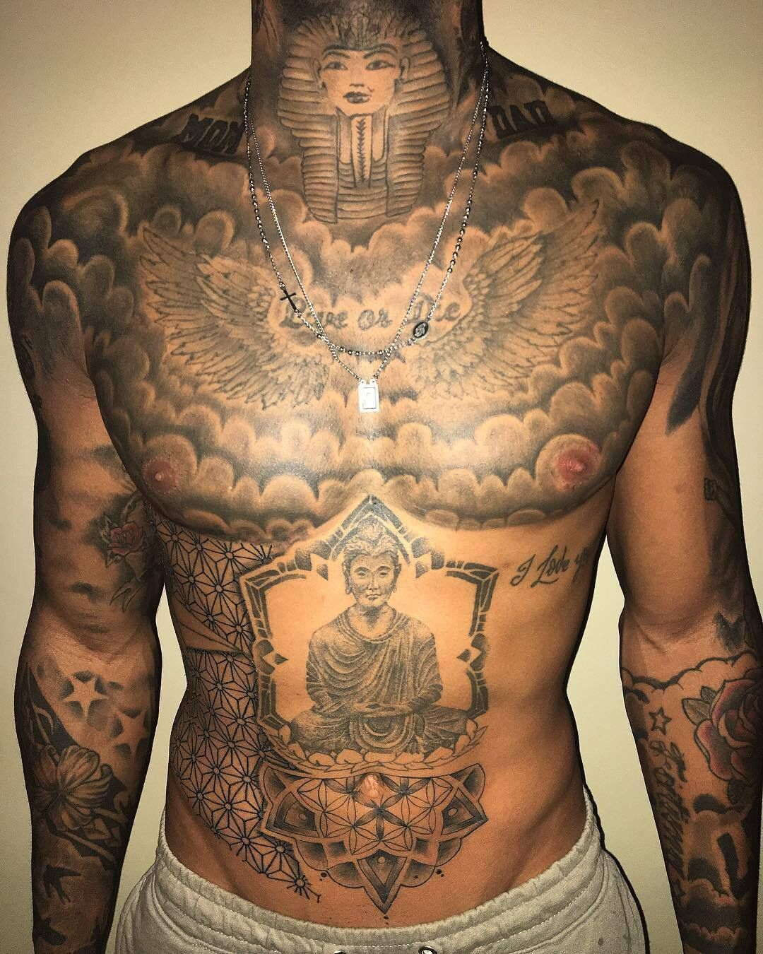 Pin By The Dye School On Ink Chest Tattoo Men Torso Tattoos Chest Piece Tattoos