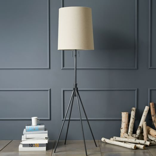 Adjustable Metal Floor Lamp   Bronze | West Elm