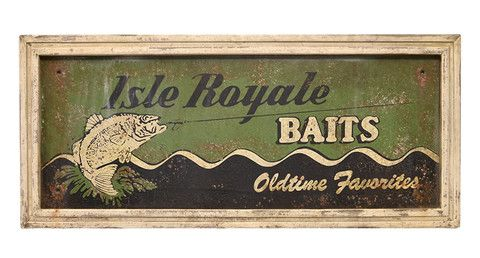 Isle Royale Baits Sign
