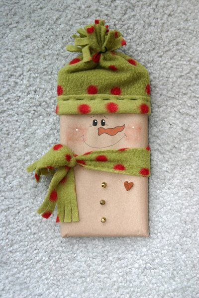cute gift idea chocolate candybar make fleece hat scarf wrapper