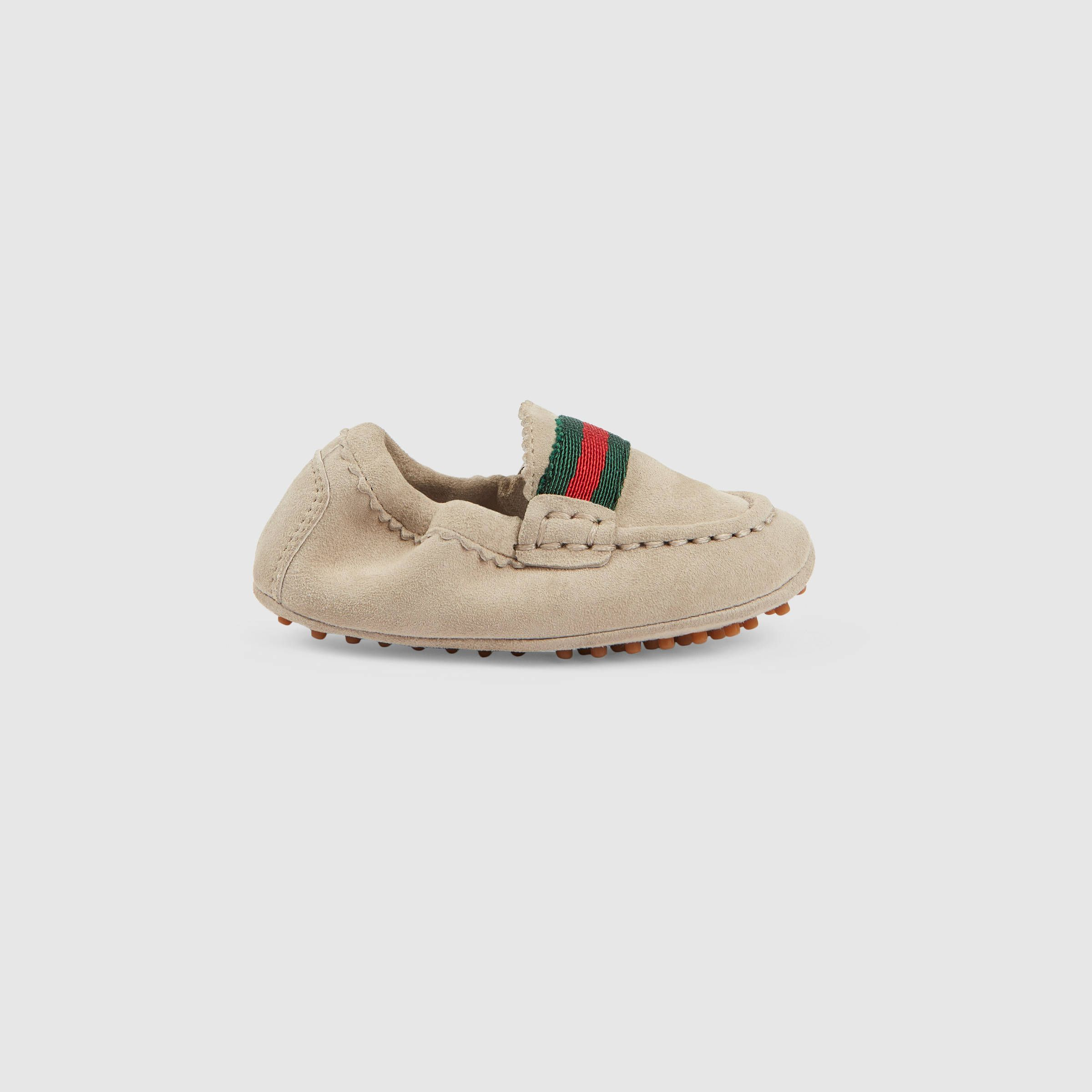 Gucci Children Baby suede driver CRE