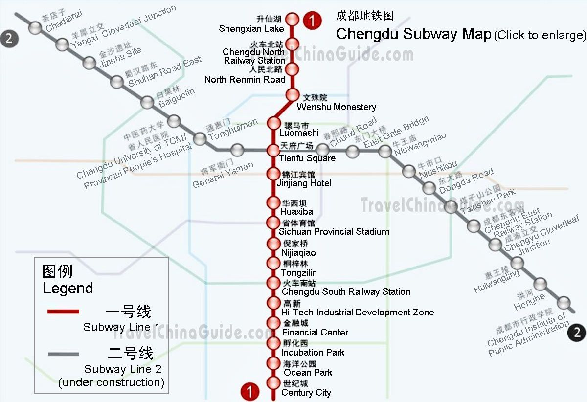 M Subway Map.Chengdu Subway Map I M Staying In The Northwest Of The City Near