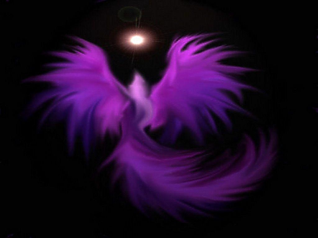 Purple Abstract Wallpaper Purple Phoenix Abstract Black Moon