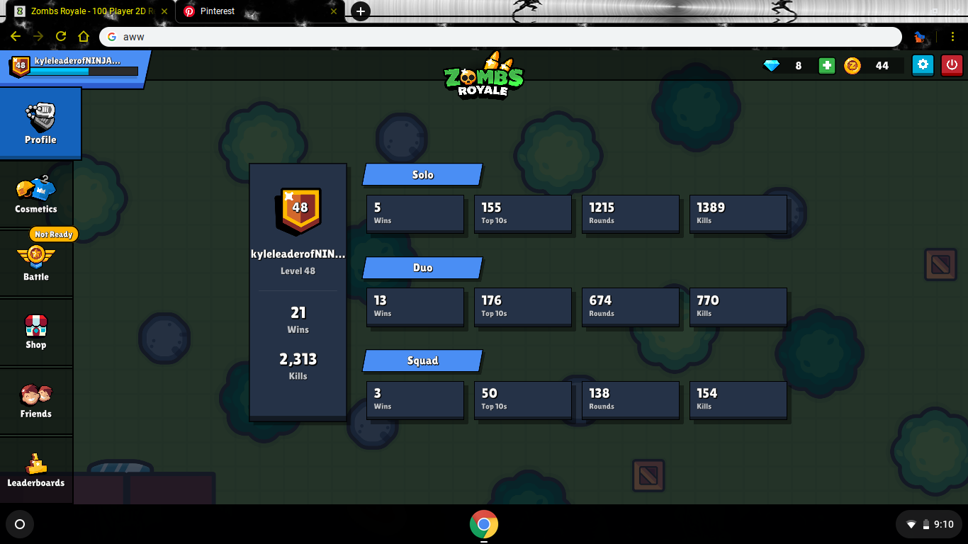Only Been Playing Zombsroyale Io And Look At My Stats Desktop Screenshot Screenshots Sonic