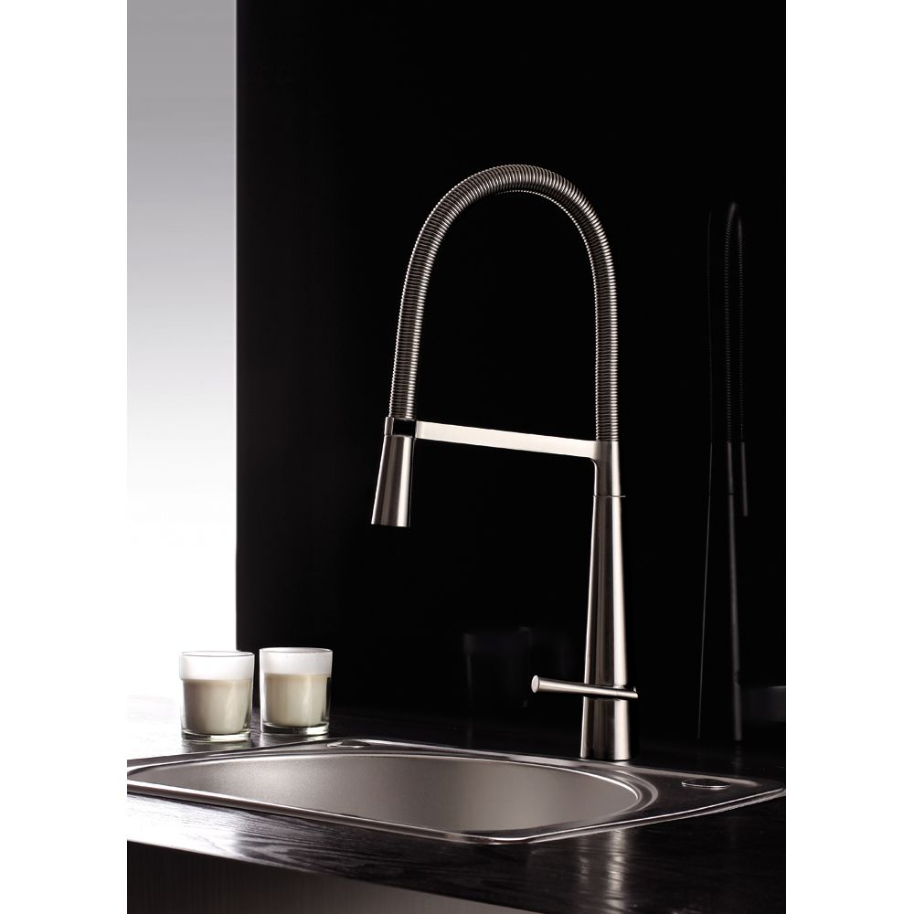 Ruvati RVF1225K1BN Brushed Nickel Pullout Spray Kitchen Faucet with ...