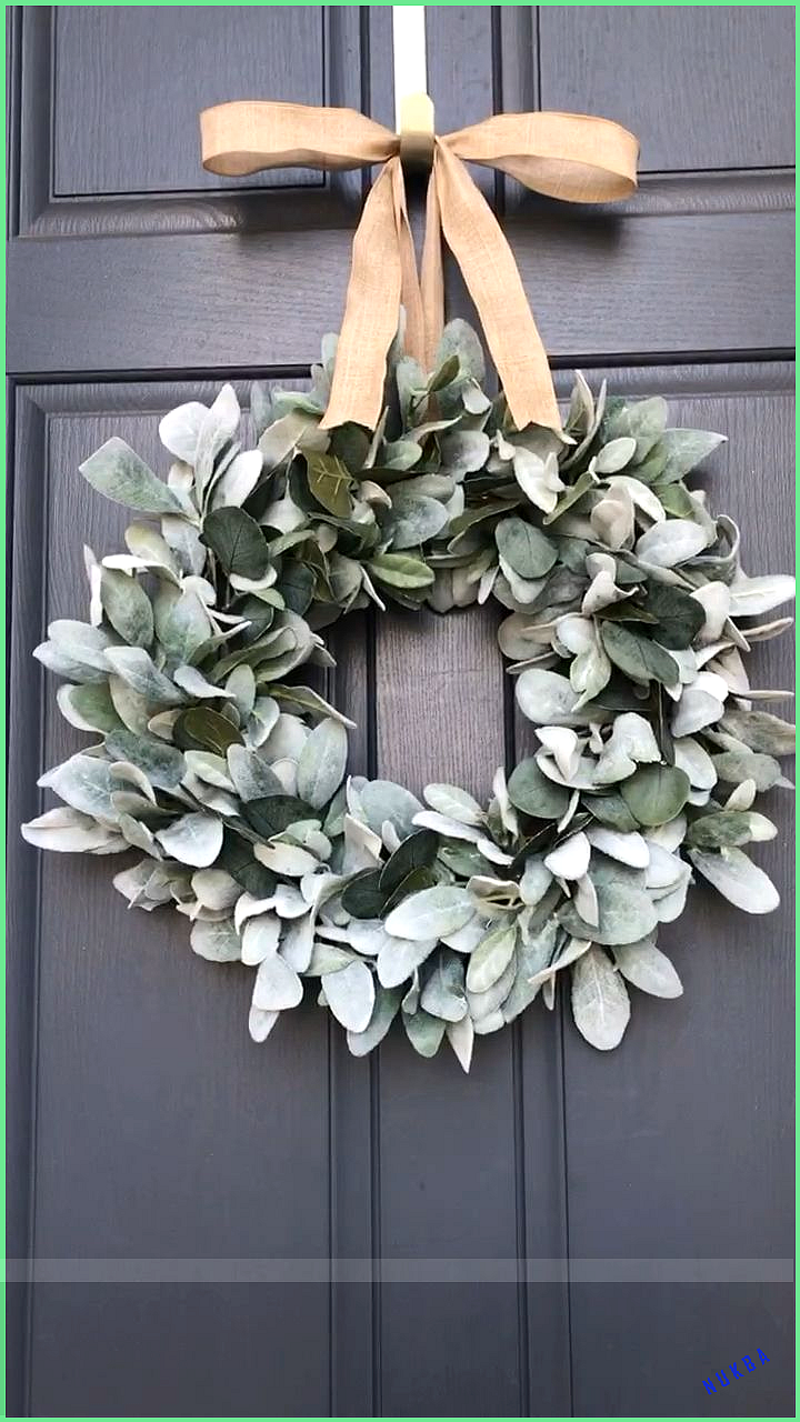 Photo of Lambs ear eucalyptus wreath