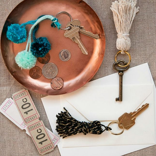 Keep track of your keys with bright DIY tassels.