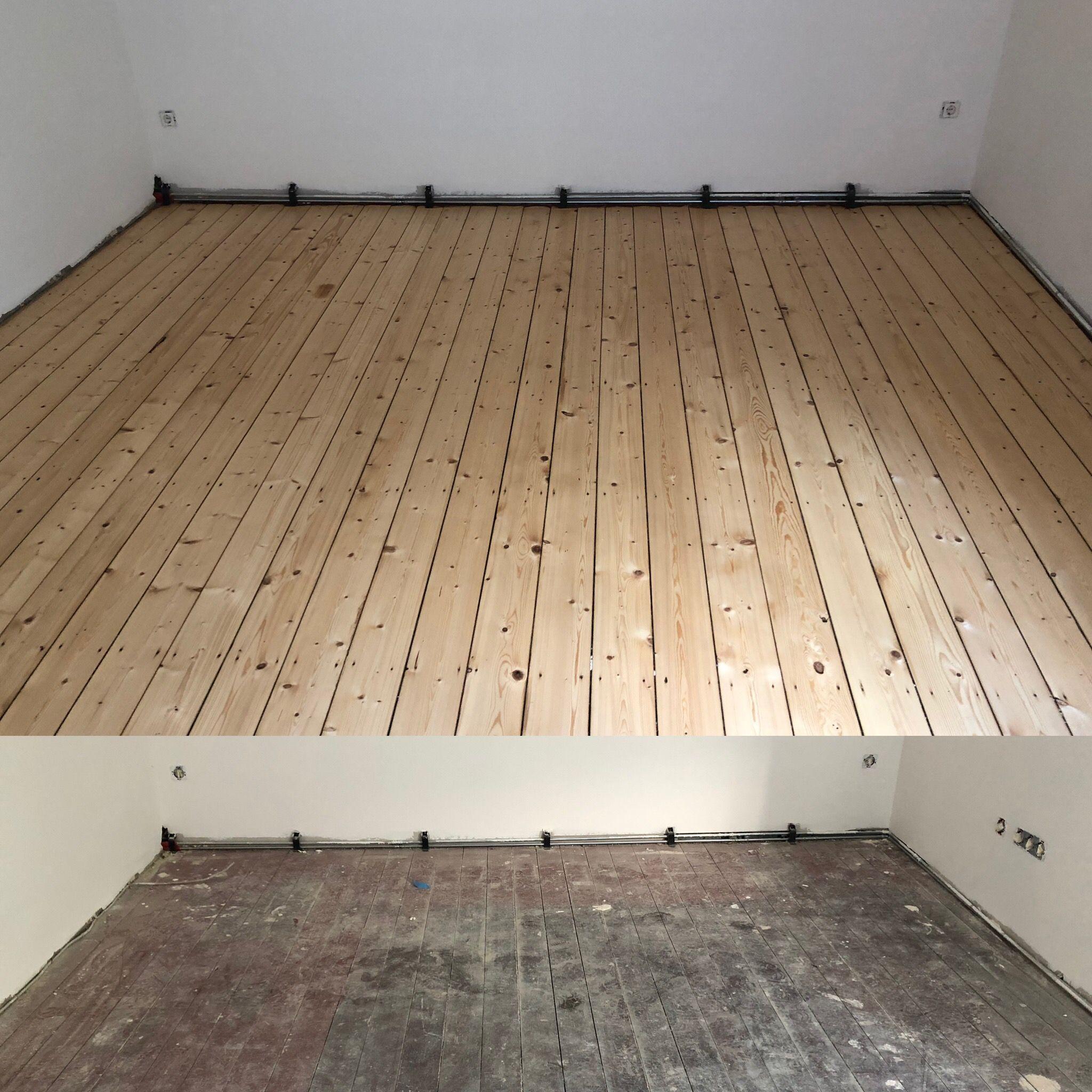 Renovierung Einer Alten Ochsenblut Versiegelung Dielenboden Haus Reparatur Parkett