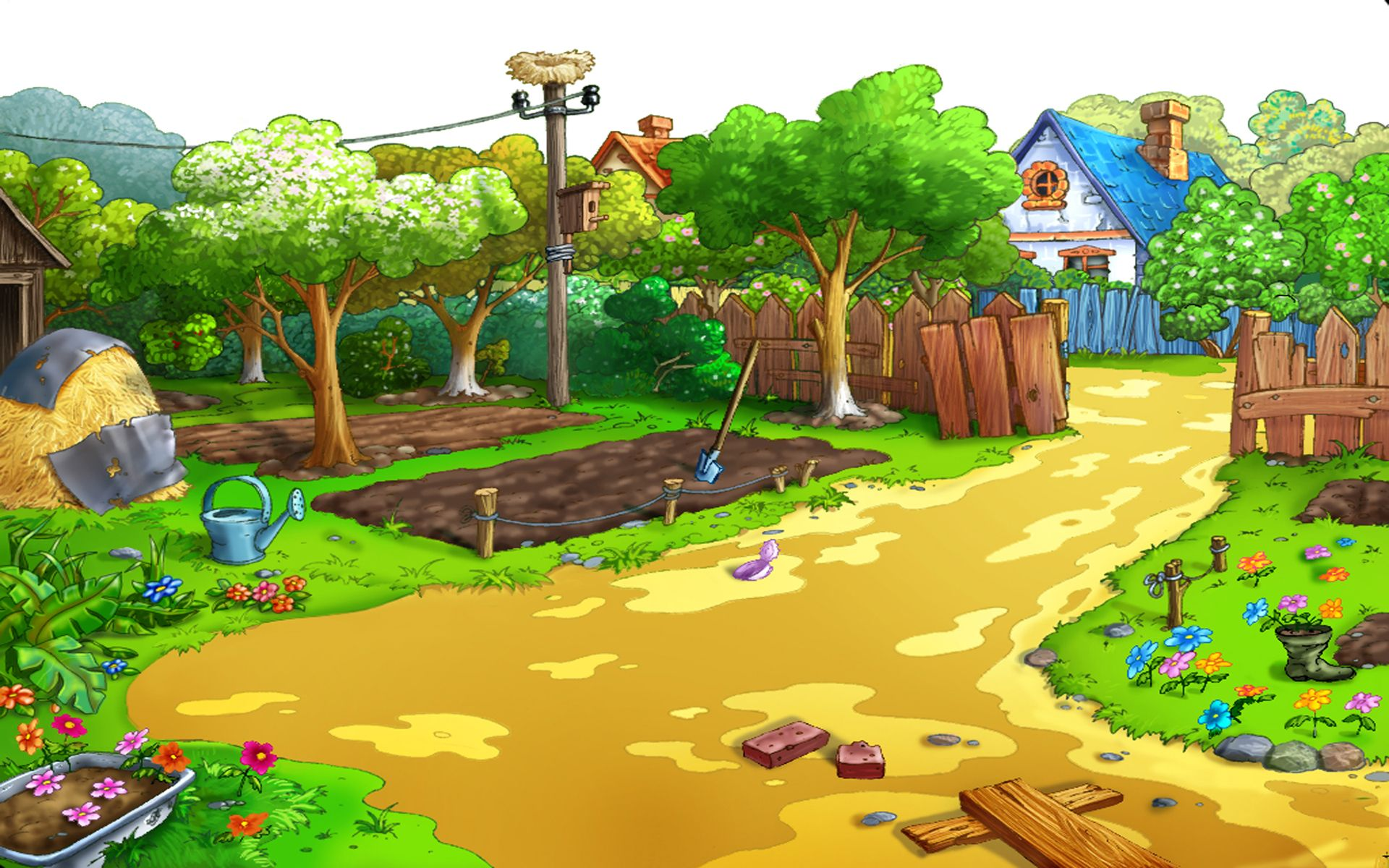 Cartoon Landscape Backgrounds Hdwallie Hd Wallpapers Objek