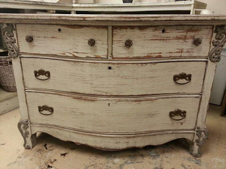 Distressed White Dresser Off