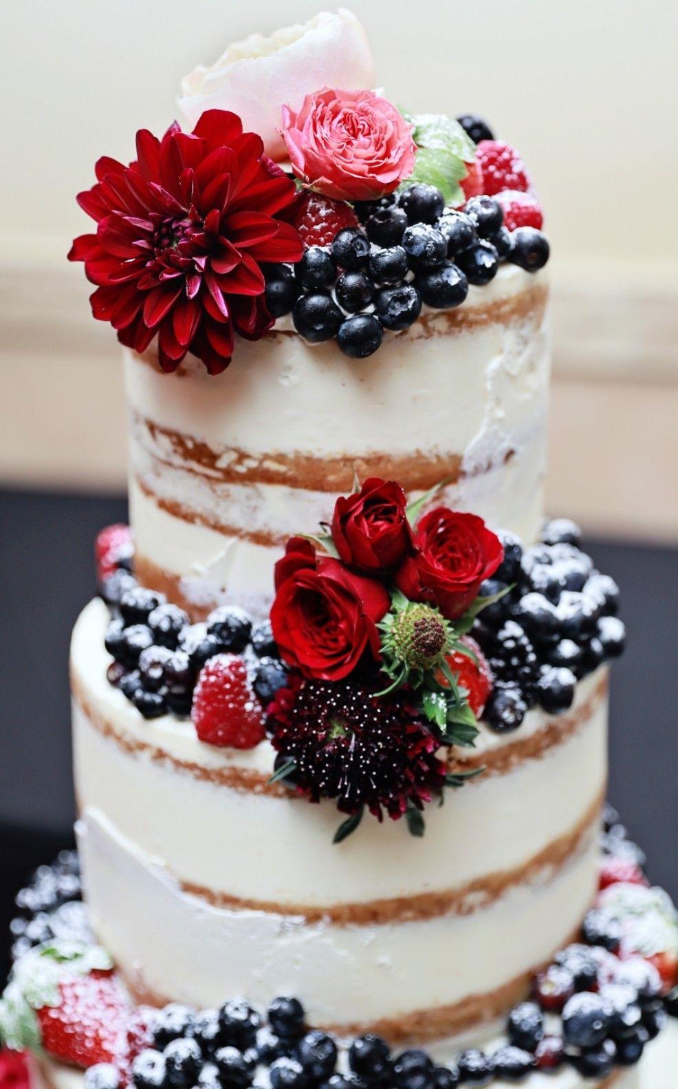 Pin on Seminaked Wedding Cakes