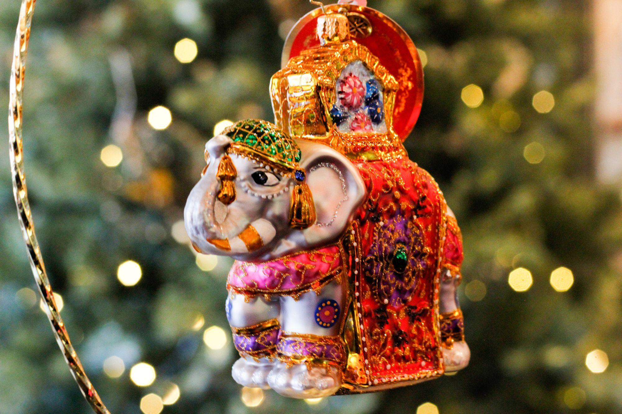 Christopher Radko Elephant Christmas Parade Ornament Christopher Radko Ornaments Radko Christmas Ornaments Christmas Parade
