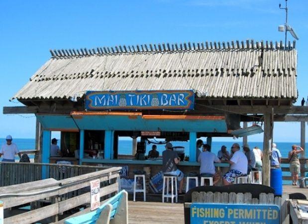 Tiki Bar At The End Of Cocoa Beach Pier