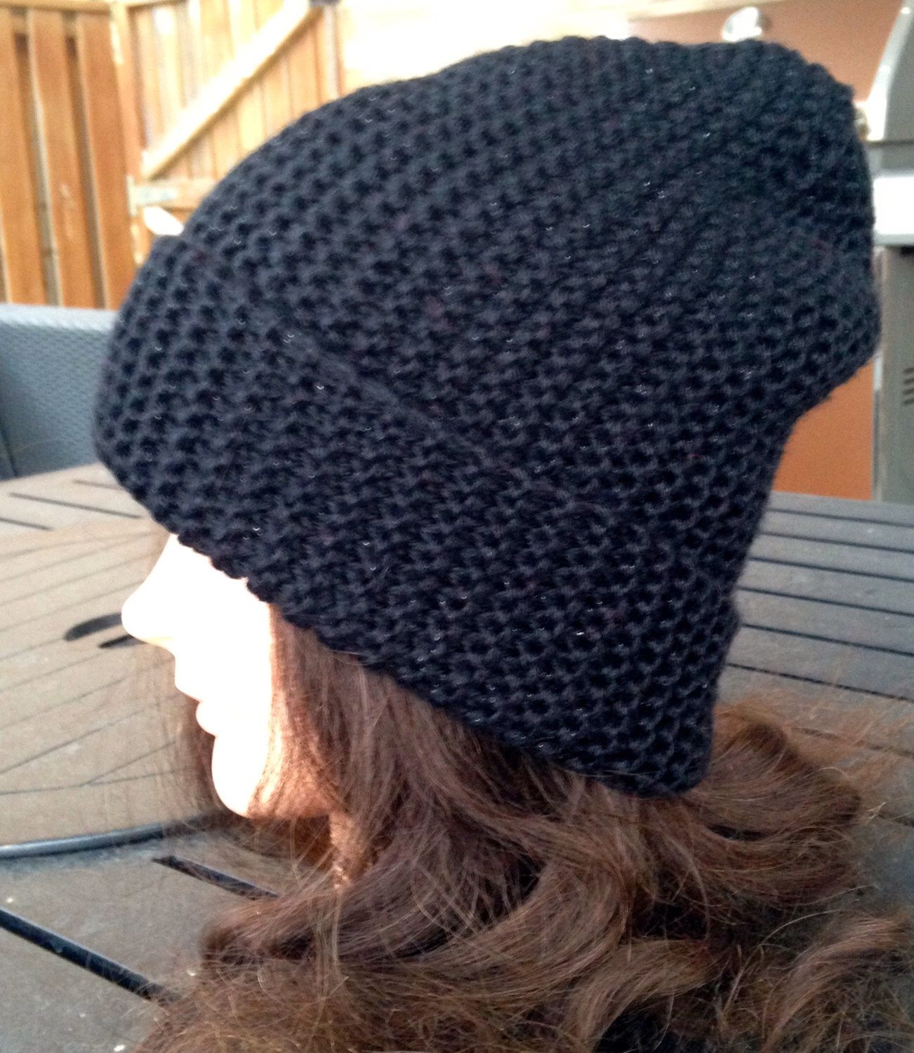Hand Knit Slouchy Beanie Hat by bricoknits on Etsy https://www.etsy.com/listing/217522345/hand-knit-slouchy-beanie-hat